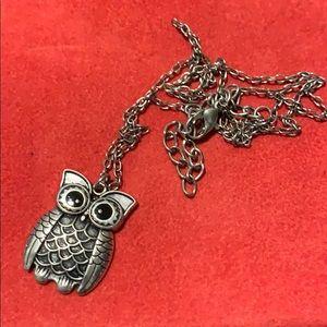 Jewelry - Silver Owl Necklace